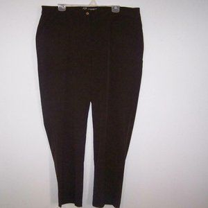 Chico's Zenergy Pants Sz 3 Dark Brown Activewear Casual Stretch Womens XL